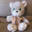 "Vintage 1985 Precious Moments ApplauseTan Green Eyed Cubby Teddy Bear Lovey Plush 13"""