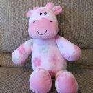 """Baby Essentials Pink Giraffe Floral Design Lovey Plush 16"""""""