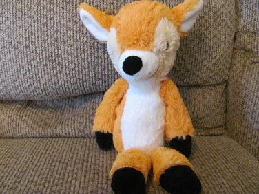 "15"" Circo Reindeer Brown Orange White Cream Black Nose Soft Lovey Plush"