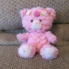 Aurora World Inc Baby Girl Pink Rose Floral Head Band Kitty Cat Lovey Plush 9""