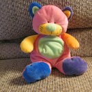 2005 Ty Pluffies Funky Kitty Cat Multicolor Lovey Plush 10""