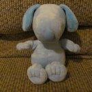 "Galerie Peanuts Blue Snoopy Plush Blue Satin Ribbon Lovey 7"""