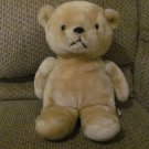 "Vintage Animal Fair Black Button Eyes Yarn Mouth Tan Teddy Bear Lovey Plush 15"""