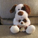 """Animal Adventure Baby Adventure Brown Cream Dog With Puppy Slippers Lovey Plush 15"""""""