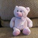 "Ganz Lovey Purple #H8865 Petunia See Thru Bow Teddy Bear Plush 10"""