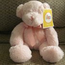 "NWT Circo Target Pink Furry Gingham Black Button Eyes Teddy Bear Lovey Plush 13"""
