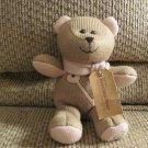 "WT 2010 Starbucks Winter Bearista Bear Brown Pink Key Knit Scarf Teddy Bear Lovey Plush 10"""
