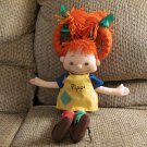 Omega Toy Astrid Lindgren Pippi Longstocking Yarn Pigtails Garter Socks Doll Lovey Plush 21""