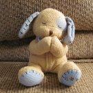 """Kids II Levi Praying Tan Blue Stitched Puppy Dog Lovey Plush 6"""""""