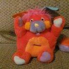 Vintage 1986 Popples Plucky Plush Mattel Bank Red Orange Purple Blue