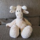2001 Baby Boyds Collection Cream Brown Spotted Giraffe Rattles Lovey Plush 16""