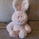 "2015 Animal Adventure Tan White Tail Soft Bunny Rabbit Lovey Plush 11"""