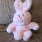 "2015 Animal Adventure Pink White Tail Soft Bunny Rabbit Lovey Plush 11"""