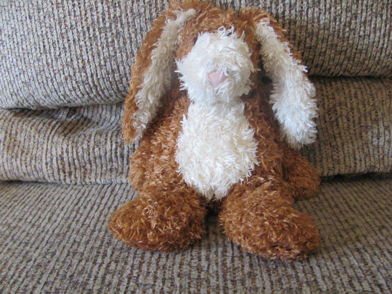 """Jellycat Bunglie Bunny Rabbit Black Button Eyes Velvet Nose Lovey Plush 11"""""""