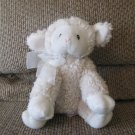 Little Miricles #630130 Pink Nose White See Thru Bow Lamb Sheep Lovey Plush 9""