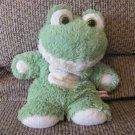 "Aurora Green Cream Beanbag Feet Floppy Soft Frog Lovey Plush 11"""