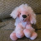 2008 Circo Target Pink Black Poufy Fur Poddle Puppy Dog Small Lovey Plush 10""