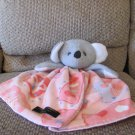 Cuddly Creations Australia Pink Skirted Fleece Satin Gray Koala Med/Lrg Security Blanket Lovey