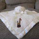 Tiddliwinks Cream Sherpa Like Teddy Bear Giraffe Rattles Security Blanket Lovey Plush
