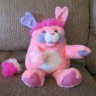 Vintage 1985 American Greetings Mattel Popples Puffball Large Plush Pink Purple 15""