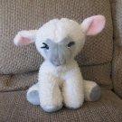 """Vintage Animal Fair #9225A Pink Gray White Wooly Black Yarn Eyelashes Lamb Plush 14"""""""
