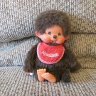 Vintage Sekiguchi Europe Holland Monchhichi Boy Pacifier Sucking Red Bib Monkey Plush 8""