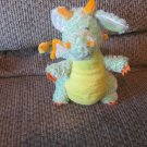 "Ganz Webkins Green Yelllow Orange Pearl Metallic Wings Ears Citrus Dragon Lovey Plush 9"""