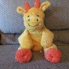 "Snuggie Toy DGE Corp #71120 Yellow Orange Black Waffle Fur Spotted Giraffe Lovey Plush 17"""