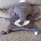 Manhattan Toy Ellie My Snuggly Stiched Brown Elephant Knotted Ends Security Blanket