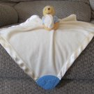 Disney  Winnie The Pooh Lovey Fleece Satin Blue Cloud Teether Rattle Security Blanket
