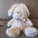 """WSP Partylite Simply Lavender Warmed Cooled White Fluffy Bunny Rabbit Lovey Plush 14"""""""