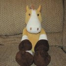 2010 Animal Adventure Soft Brown Tan White Horse Lovey Plush 17""