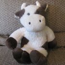 DanDee Collectors Choice Cream Brown Cow Bull With Horns Soft Lovey Plush 16""