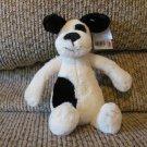 """WT Jellycat Bashful Puppy Dog Spot Black Button Eyes Velvet Nose Small Lovey Plush 8"""""""