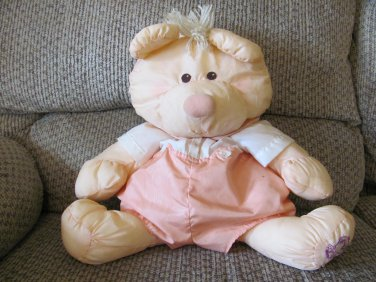"""Vintage 1986 Fisher Price Lovey Puffalump Peach Cream Shorts Outfit Mouse Plush 17"""""""