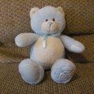 "Toys R Us My First Teddy Blue Teddy Bear Lovey Plush 13"""