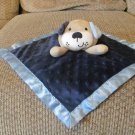Garanimals Blue Minky Dot Puppy Dog Satin Sewn In Features Security Blanket 11x11""