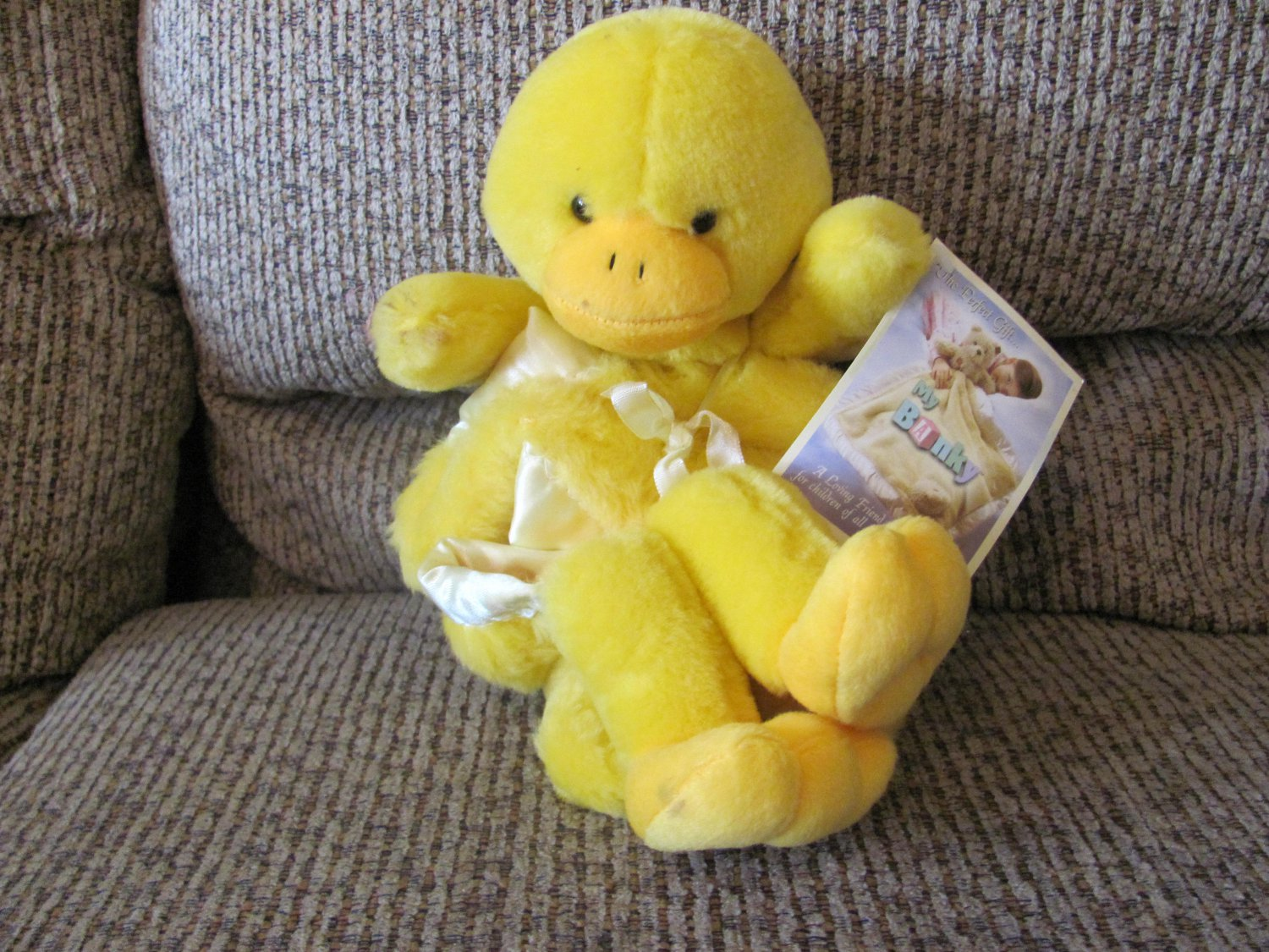 NWT My Banky Sarah Yellow Orange Duck Small Duckling Security Blanket Lovey Plush