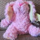 "WT 2015 Animal Adventure Yellow Green Ear Pink Bunny Rabbit Lovey Plush 9"""