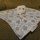 Blankets and Beyond Snow Owl Blue Grayowl Print Security Blanket Lovey Plush