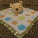 "Disney Baby Orange Green Blue Honey Pot Bee Winnie The Pooh Security Blanket Lovey 11x11"""