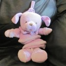 Gund La Collection FeFe Plum Dog #4030451 Purple Crib Pull Toy Lovey Plush Musical Frère Jacques