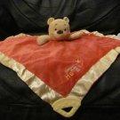 """Disney Baby Orange Yellow Sweet As Honey Bee Winnie The Pooh Teether Security Blanket Lovey 14x14"""""""