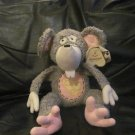 WT Aurora Dilly Dallys Mousey #10390 Gray Pink White Cheese Belly Mouse Lovey Plush 13""