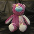Mudpie Baby #131993 Purple Corduroy Diamond Piasley Cloth Teddy Bear Lovey Plush 12""