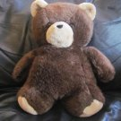 Vintage 1984 Dakin Cuddles Brown Tan Teddy Bear Lovey Plush 14""