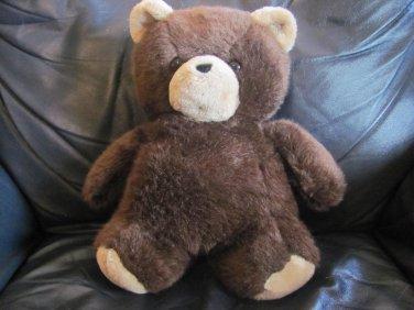 "Vintage 1984 Dakin Cuddles Brown Tan Teddy Bear Lovey Plush 14"""