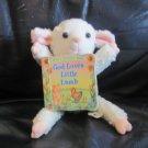 """Vintage 1998 Joshua Morris Publishing Inc A Bend And Snuggle Book God Loves Little Lamb Plush 8"""""""