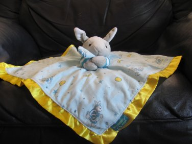 Kids Preferrred Goodnight Moon Bunny Rabbit Microfleece Satin Security Blanket