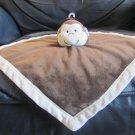 Tiddliwinks Brown Cream Microfleece Monkey Security Blanket Lovey Plush